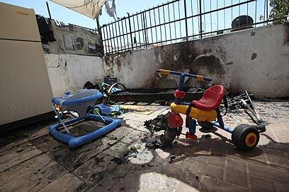 גן הילדים בשכונת שפירא, בבוקר אחרי ההצתה (צילום: מוטי קמחי) (צילום: מוטי קמחי)