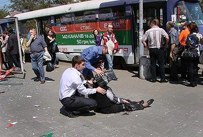 הפיצוצים באוקראינה. הגיעו בתזמון הכי גרוע מבחינת האוקראינים (צילום: AFP) (צילום: AFP)