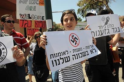 ההפגנה בדרום תל אביב (צילום: ירון ברנר) (צילום: ירון ברנר)