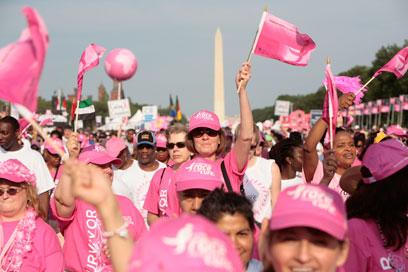 הצעדה בוושינגטון, נשים, גברים וילדים. קהילה תומכת (צילום: יחצ חול)