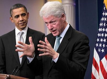 קלינטון ואובמה (צילום: AP) (צילום: AP)