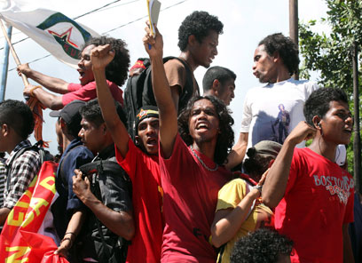אירועי אחד במאי במזרח טימור (צילום: EPA) (צילום: EPA)