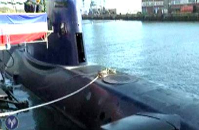 The new Dolphin submarine (Photo: IDF Spokesman)