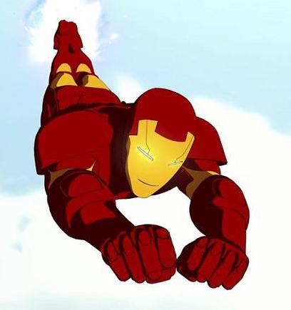 איירון-מן, מתוך סדרת האנימציה. סופר-הירו אירודינמי