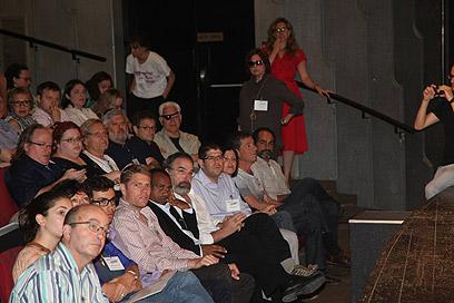 כנס השמאל בבית ציוני אמריקה בתל אביב (צילום: מוטי קמחי) (צילום: מוטי קמחי)