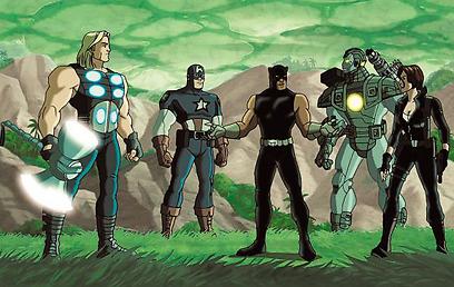 """ת'ור וחברי הנוקמים בסדרה """"Ultimate Avengers"""" ()"""