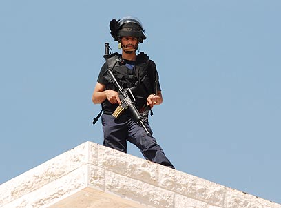 Police deployed across city (Photo: George Ginsburg)