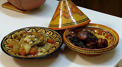 טאג'ין צוואר טלה בירקות שורש, בליווי קוסקוס ירקות מתקתק (צילום: איתי רזיאל) (צילום: איתי רזיאל)