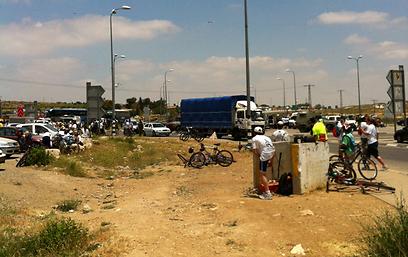 אזור נסיון הפיגוע בצומת גוש עציון (צילום: אילן אמסל) (צילום: אילן אמסל)