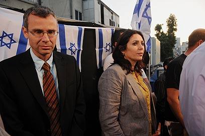 """ח""""כ רגב בהפגנה נגד מסתננים בדרום תל אביב (ארכיון) (צילום: ירון  ברנר) (צילום: ירון  ברנר)"""