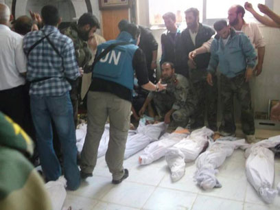 Bodies of some of the children massacred in Houla. (Photo: Reuters)