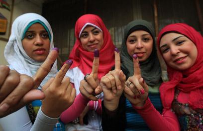 נשים שהצביעו בבחירות (צילום: AFP) (צילום: AFP)