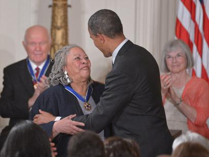 הענקת מדליות החירות, אמש (צילום: AFP) (צילום: AFP)