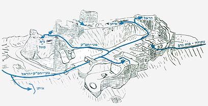 """תוכנית פלס""""ר גולני לכיבוש רגלי של המבצר (צילום: ארכיון צה""""ל ומערכת הביטחון) (צילום: ארכיון צה"""