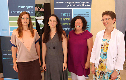 מימין: מירה חובב, גלית כהן, טלי אבנון-בנבנישתי, גליה קן (צילום: עידו ארז) (צילום: עידו ארז)