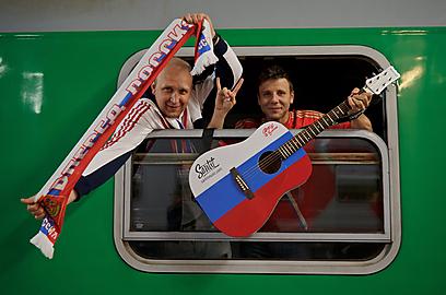אצל הרוסים תמיד שמח (צילום: EPA) (צילום: EPA)