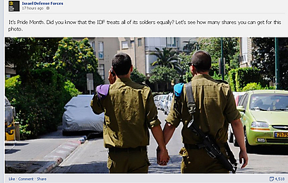IDF Gay Pride Month Facebook post