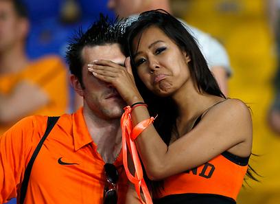 אוהדי נבחרת הולנד. תתעודדו, יש עוד סיכוי קלוש (צילום: רויטרס) (צילום: רויטרס)