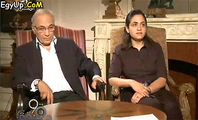 התייצבה לצד אביה לראיון משותף. אמירה ואחמד שפיק ()
