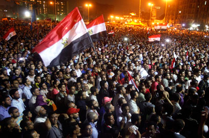 Demonstration at Cairo's Tahrir Square (Photo: Reuters)