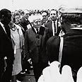 ביקור ראש הממשלה דוד בן גוריון בלוד, בשנת 1956. עוד חתיכת היסטוריה מצידו של אלמגור צילום: מיכאל אלמגור