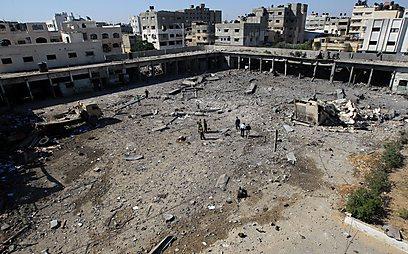 אחד מהיעדים שהותקפו הלילה, לטענת הפלסטינים (צילום: AFP) (צילום: AFP)