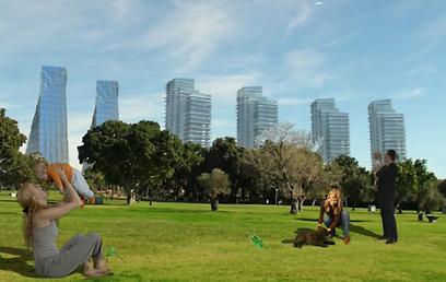פארק גדול בלב השכונה החדשה (הדמיה באדיבות: מנהל מקרקעי ישראל) (הדמיה באדיבות: מנהל מקרקעי ישראל)