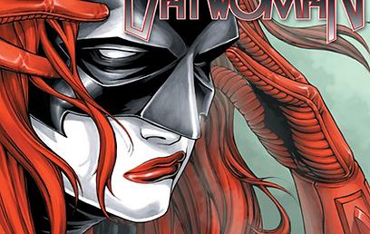 באטוומן בגרסה החדשה. מתאפרת ונלחמת בפשע (עטיפת הקומיקס) (עטיפת הקומיקס)