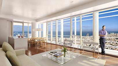 הדמיית הדירה שנמכרה תמורת שני מיליון אירו. אז מה אם שוק דירות היוקרה בירידה (הדמייה: באדיבות חברת ברגרואין רזידנטיאל ) (הדמייה: באדיבות חברת ברגרואין רזידנטיאל )