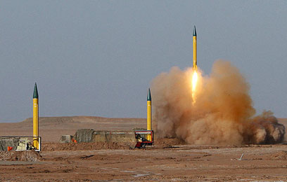 Shahab missiles fired during Iran army drill