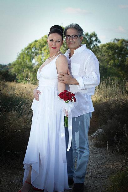 נשואים. מאיר סויסה ואשתו נעמה (צילום:בני טפירו) (צילום:בני טפירו)