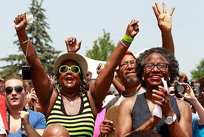 לשון מאזניים במערכות בחירות לנשיאות. כנס של אובמה באוהיו (צילום: רויטרס) (צילום: רויטרס)
