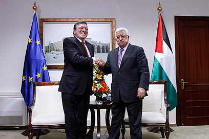 President Abbas with Eruropean Commision Chief Jose Manuel Barroso