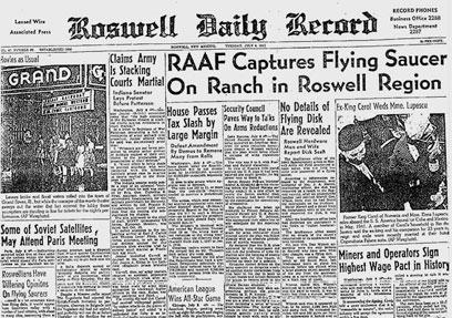 """הדיווח על """"הצלחת המעופפת"""" ב-1947 ()"""