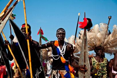 חוגגים בדרום סודן (צילום: רויטרס) (צילום: רויטרס)