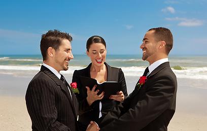 חד מיניים לא יכולים להתחתן עם רב אורתודוכסי ועל כן טקס אזרחי מתאים להם בול (צילום: shutterstock)