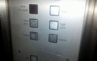 כדאי לבדוק את פעמון האזעקה במעלית (צילום: אסף רוזן) (צילום: אסף רוזן)