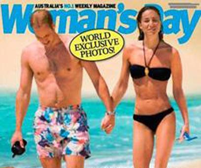 """שער המגזין האוסטרלי. """"בני הזוג מופתעים ומאוכזבים"""" ()"""