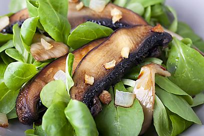 סלט ירוק עם פטריות (צילום: shutterstock) (צילום: shutterstock)