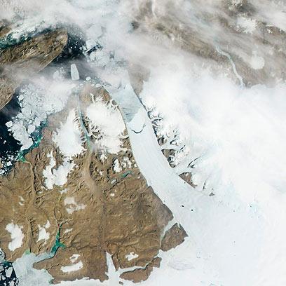 התנתקות קרחון בגרינלנד (צילום: AP) (צילום: AP)