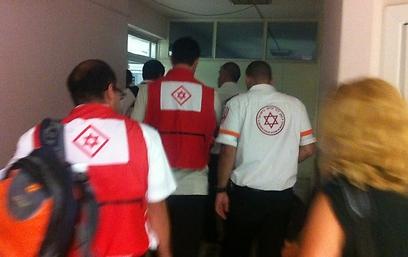 """צוות מד""""א בבית החולים בבורגס (צילום: כרמית ראובן) (צילום: כרמית ראובן)"""