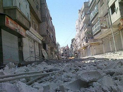 הריסות אחרי לחימה בפרבר של דמשק (צילום: רויטרס) (צילום: רויטרס)
