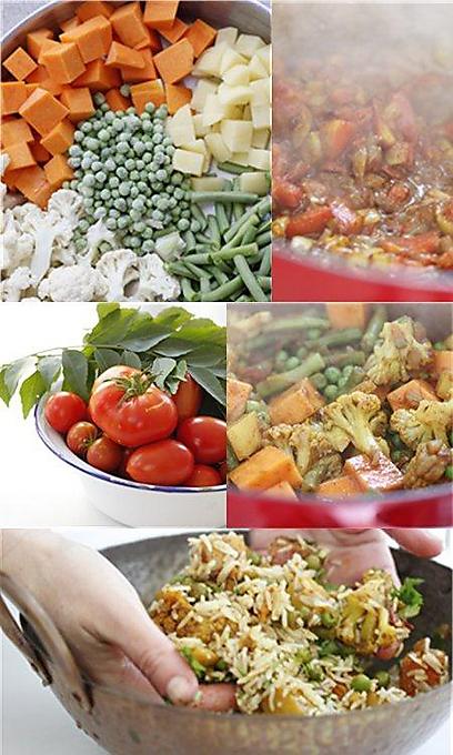 ירקות וקארי (צילום: מיכל וקסמן) (צילום: מיכל וקסמן)