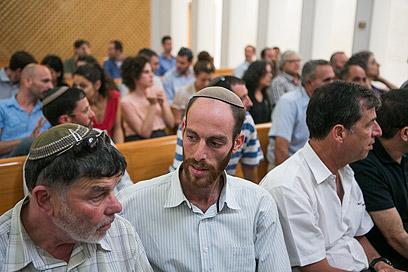 תושבי מגרון בבית המשפט (צילום: אוהד צויגנברג) (צילום: אוהד צויגנברג)