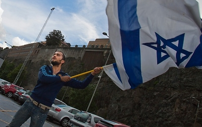 Proud to defend Israel (Photo: Nima Dervish)