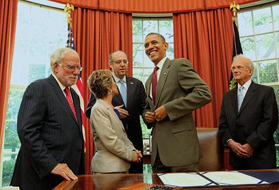 """אובמה חותם על החוק להידוק השת""""פ הביטחוני בסוף השבוע (צילום: MCT)"""