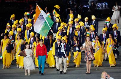 המשלחת ההודית לאולימפיאדת לונדון. שאיפות מרחיקות לכת (צילום: רויטרס) (צילום: רויטרס)