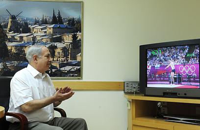 """זוכרים את הציור שלו? נתניהו (צילום: משה מילנר, לע""""מ) (צילום: משה מילנר, לע"""