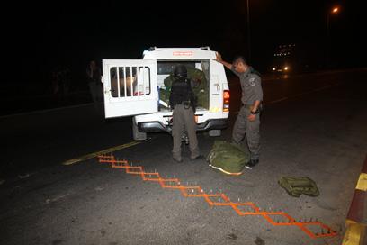 כוחות הביטחון חסמו כבישים בדרום (צילום: רועי עידן) (צילום: רועי עידן)