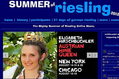 """גם לנו יש אחת. מלכת הריזלינג האוסטרית באתר הרשמי של """"Summer of Riesling"""" ()"""